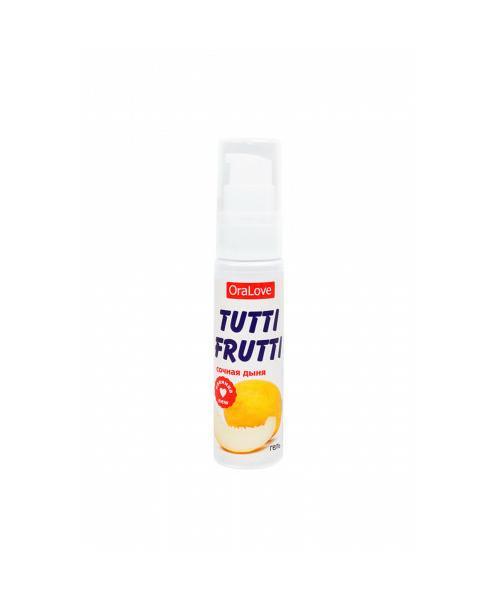 Съедобная гель-смазка «Tutti-Frutti Сочная дыня» для орального секса Краснодар